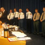 The awards presentation took place Tuesday, April 22, in the Board of Supervisors hearing room at the Kenneth Hahn Hall of Administration. (Photo courtesy LASD)