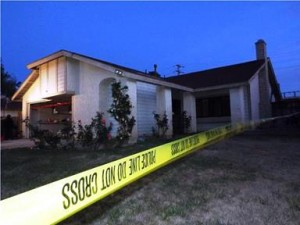 The search warrant was served at a home on the 3800 Block of Triton Court. (JOHN MEZA)