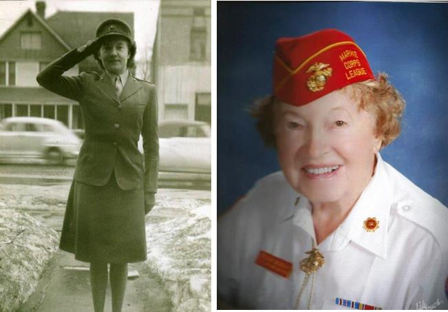 Pat Murray's dedication to the Marine Corp has been a lifelong passion. She served with the women of the Marine Corps and spent most of the war years as a parachute rigger in El Centro, Calif.  (Contributed photos)