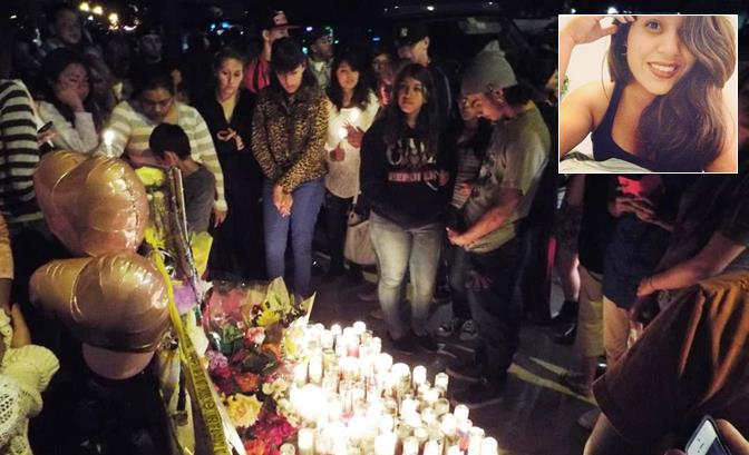 The candlelight vigil was held around 8 p.m., Sunday, April 20, at the crash site, located in the 1000 block of East Avenue R in Palmdale. (Photo by JOHN MEZA)