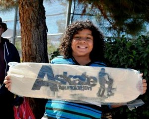 Each child will leave with a skateboard!