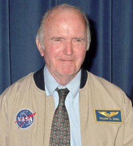 Dana was all smiles when he was awarded civilian astronaut wings during a 2005 ceremony for his flights above 50 miles altitude in the X-15 rocket plane in the 1960s. (NASA photo)