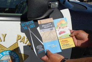 The majority of violators were given warnings and traffic safety brochures rather than citations.