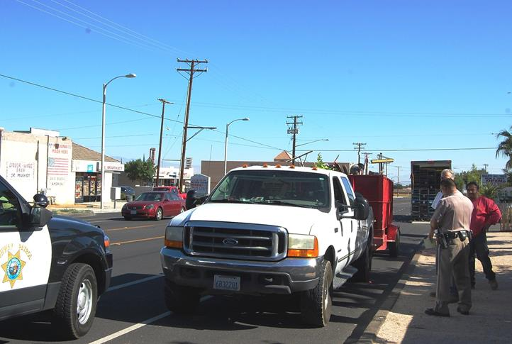 """A service truck driver was warned for parking against the flow of traffic on 50th Street West near Avenue L-8. """"Parking on the wrong side of the road can actually be a dangerous situation for a pedestrian or for a bicyclist, because they're not expecting this vehicle to pull out coming in their direction,"""" Hernandez said."""