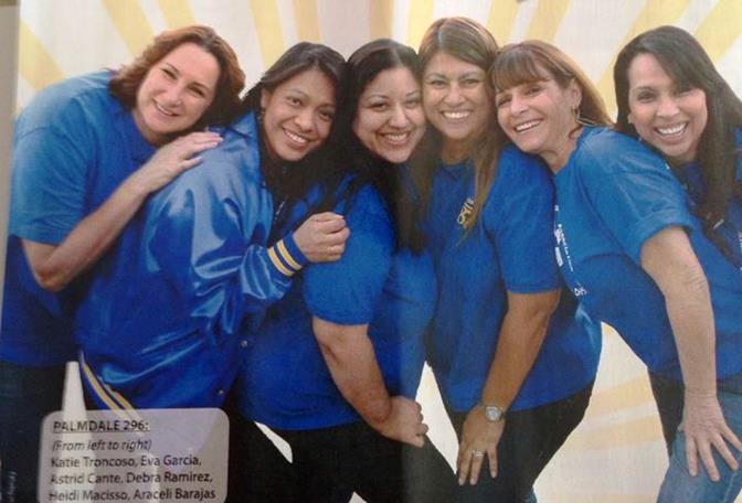 (L to R) CSEA Chapter 296 members Katie Troncoso, Eva Garcia, Astrid Cante, Debra Ramirez, Heidi Macisso, and Aracely Barajas.