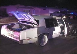Cager evaded officer in this white Cadillac, officials said. (ED FROMMER)