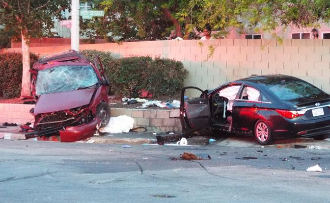The crash occurred around 6:40 p.m. Saturday, May 3, on Lancaster Boulevard at 25th Street East. (Photo by JOHN MEZA)