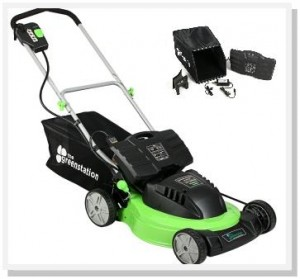 The Greenstation, a lawn mower manufacturer, is offering an additional savings up to $169, depending on the choice between two lawn mower models.
