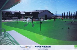 The putting green will be constructed with artificial turf and is designed to be  maintenance free.