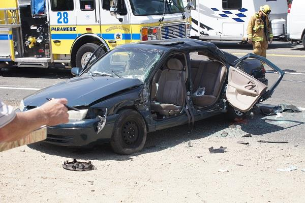 20-year-old Palmdale resident Jocelyne Plascencia sustained major head trauma when her Toyota swerved off the road to avoid a car and then crashed into a big rig  on Highway 126. (Image courtesy courtesy of The Sespe Sun)