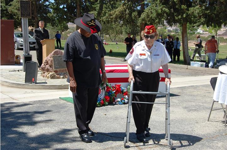 Murray helped lay the wreaths at the Memorial Day Service at Desert Lawn Memorial Park.