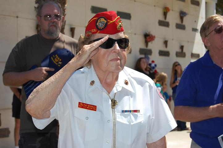 "At the age of 96, Patricia ""Pat"" Murray  is believed to be the most senior Marine veteran in the Antelope Valley."