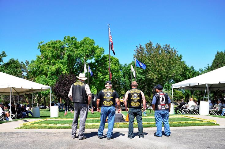 """A ceremony titled """"In Honor of Our Veterans"""" started at 10 a.m. at Joshua Memorial Park in Lancaster."""