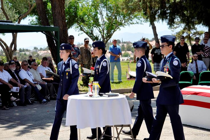 A Table of Honor Ceremony was conducted by Highland High School Air Force JROTC at Desert Lawn Memorial Park.