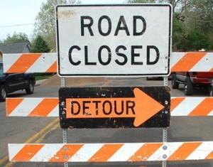 Palmdale detours road construction