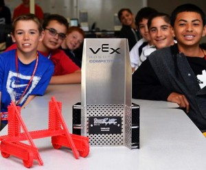 The VEX Jets won the Create Award at the World Championship.