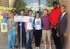 On May 23, DCHD members joined the 99Rise activists at State Senator Steve Knight's office in Palmdale.