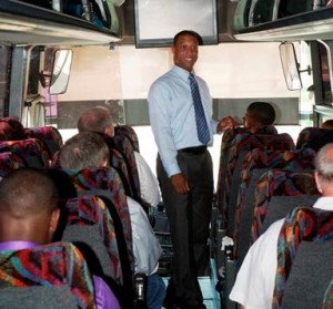 Antelope Valley residents chartered a bus to Temple City for the hearing, Ervin said. (Contributed photo)