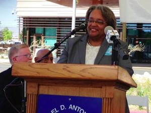 Administrator Beryl Brooks welcomed members of the community to the grand opening for the Los Angeles County High Desert Regional Health Center on Friday, May 30.
