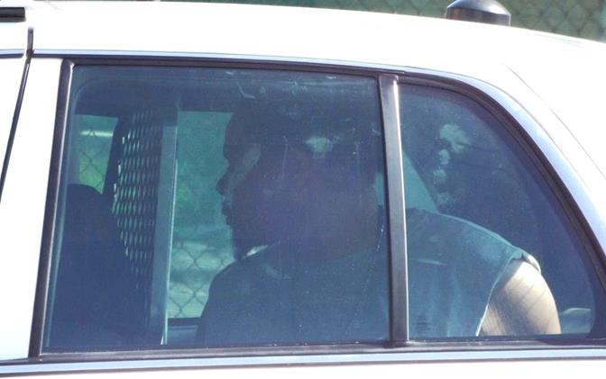 James Smith sits in the back of a Sheriff's patrol car June 16, 2014. Smith was taken into custody after deputies found him inside a green Buick parked in the 1000 block of West Avenue H-12 in Lancaster. (Photo by LUIS MEZA)