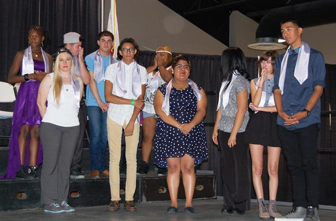 Eleven of the 18 Lavender Graduates were present for the ceremony, and they represented high schools from across the Valley as well as Antelope Valley College.