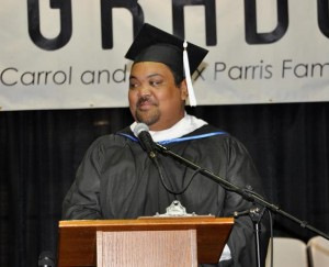 OUTreach Center Board President Sani Andres encouraged the students to advocate for the next generation.