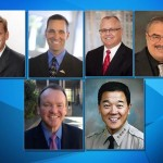 (Top row: L to R) Tony Strickland and Steve Knight will face off Nov. 4 for the 25th Congressional District seat. Tom Lackey and Steve Knight will face off in November for the 36th Assembly District seat. (Bottom row L to R) Jim Mcdonnell will face Paul Tanaka for Los Angeles County Sheriff.