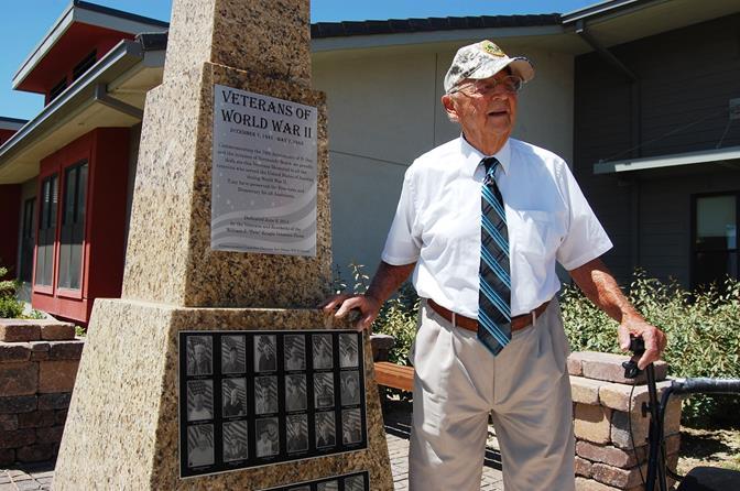 The monument is the brainchild of World War II veteran Bert Dorosy.