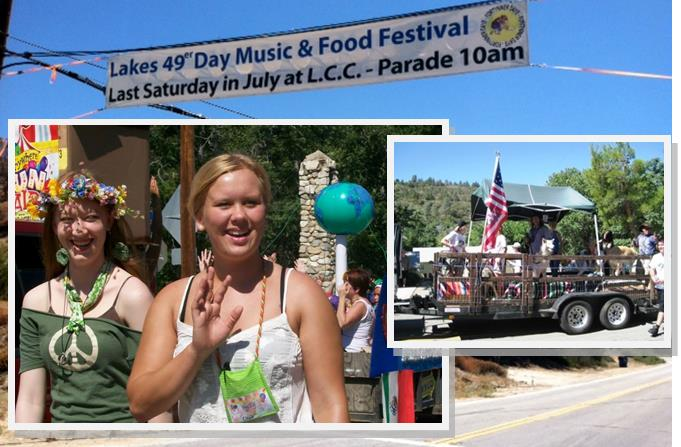 (Pictured in main photo L to R: Karen Canfield of Three Points and 2013 Honorary Mayor Chloe Koslo of Lake Hughes taking part in last year's parade. This year's parade, featuring equestrian units, floats, classic cars and more, starts at 10 a.m., July 26, at the corner of Lakes Hughes Road and New Vale Rd . (Contributed photos)
