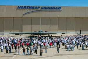 Employees, customers and elected officials attended the ceremony at Northrop Grumman's Palmdale Aircraft Integration Center of Excellence.