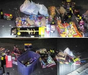 Illegal fireworks seized in Palmdale July 4, 2014. (LASD)