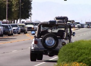 No injuries were reported for the jeep's driver, 62-year-old Osmond Jornadal of Palmdale. (LUIS MEZA)
