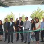 Representatives from the City of Palmdale, Constellation and PsomasFMG cut the ribbon Wednesday, July 9, to mark the completion of an aggregate 976-kilowatt DC solar generation project.