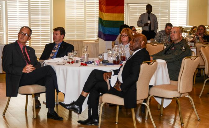 Team Edwards was invited to attend a pride luncheon for the Lesbian, Gay, Bisexual and Transgender community during LGBT Awareness Month June 26 at Club Muroc, (U.S. Air Force photo by Rebecca Amber)