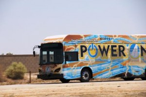 The BYD bus managed to travel 746 miles over the 24-hour period, operating in three shifts. (AVTA)
