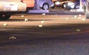 Responding deputies found at least a dozen shell casings in the nightclub's parking lot,. (LUIS MEZA)