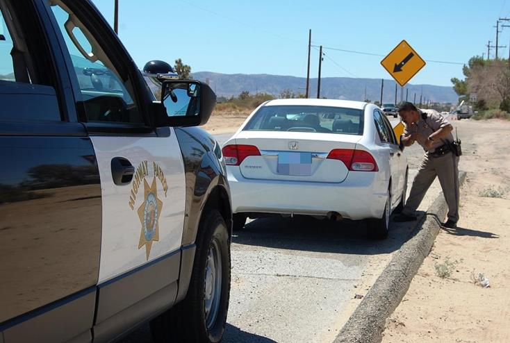 """Around 2:10 p.m., Wednesday, Aug. 27, a driver was stopped on the southbound 14 Freeway near the Avenue M exit for wearing earbuds while driving.""""The law says you can only have one ear covered at a time, you can't have both; so even though he wasn't on his cell phone, he was in violation of the law,"""" Hernandez said. """"It's a hazard and a safety issue because if there's an emergency vehicle that's coming, he won't be able to hear that."""""""