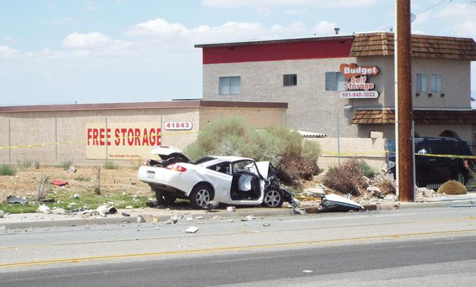 The fatal crash occured around 12:01 p.m., Tuesday, Aug. 12 on 10th Street West, south of Avenue M. (Photo by LUIS MEZA)