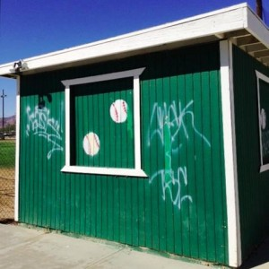 The league's facilities, like the Officer Of the Day Shed, have recently become the target of graffiti, vandalism and theft. (Photo by Jim E. Winburn)