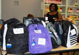 The backpacks and supplies were purchased using community donations.