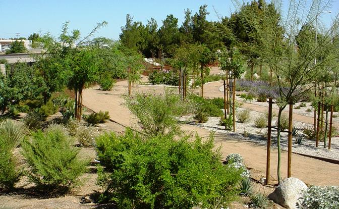 Xeriscape Garden On Sierra Highway, North Of Palmdale Blvd. Xeriscape Is A  Means To