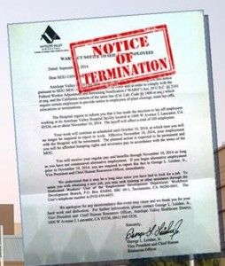 Select employees received a termination letter on Sept. 9 warning that the layoff will affect a total of 105 employees. [Click image to view the letter.]