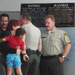 Johnnie Melendez Jr. was located at a residence in Lancaster, recovered unharmed, and reunited with his family at the Lancaster Sheriff's Station Sunday afternoon. (Photo by LUIS MEZA)