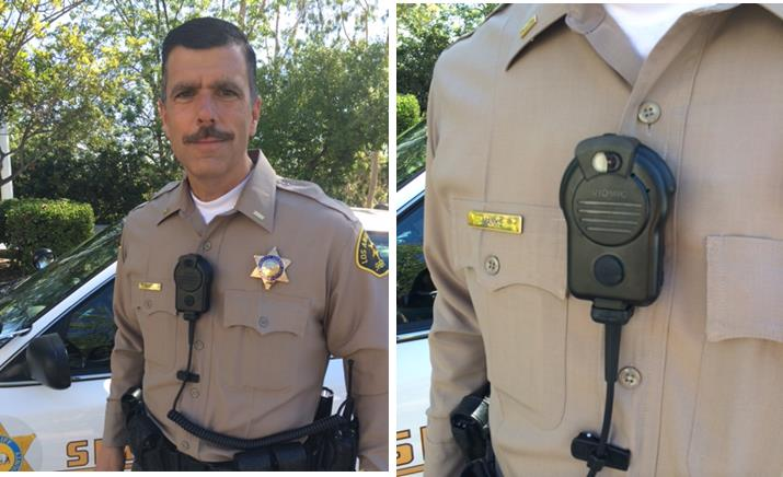 In July 2013, the Sheriff's Department began plans for performing a no-cost test and evaluation of a Body Worn Camera System.  After completing extensive research and a request for information procurement process, four manufacturers were selected to participate in the pilot program, which was formally initiated September 1, 2014. The four different types of body cameras were displayed at a press conference at LASD headquarters Monday. (Photos courtesy LASD)