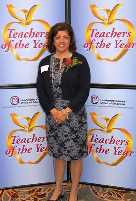 The 2014 Teacher of the Year for Westside Union School District, Elizabeth Anderson, was honored Friday, Sept. 26 at a luncheon for all of Los Angeles County Schools. (Contributed photo)