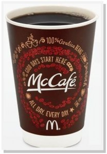 McCafe small coffee giveaway