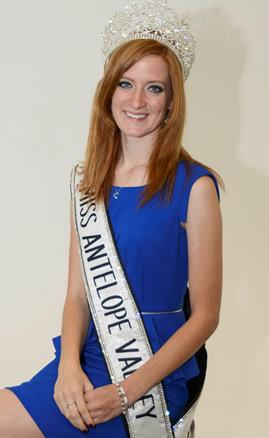 Miss Antelope Valley Emily Booth is a 2014 graduate of Desert High Jr.-Sr. High School. She hopes to use her title as Miss AV to inspire people to follow their dreams. (U.S. Air Force photo by Rebecca Amber)