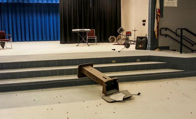 So far, there have been five instances where an unidentified individual or group has broken into school property at night, and with each break in, the level of damage to the property has escalated. Muroc Joint Unified School District courtesy photo)