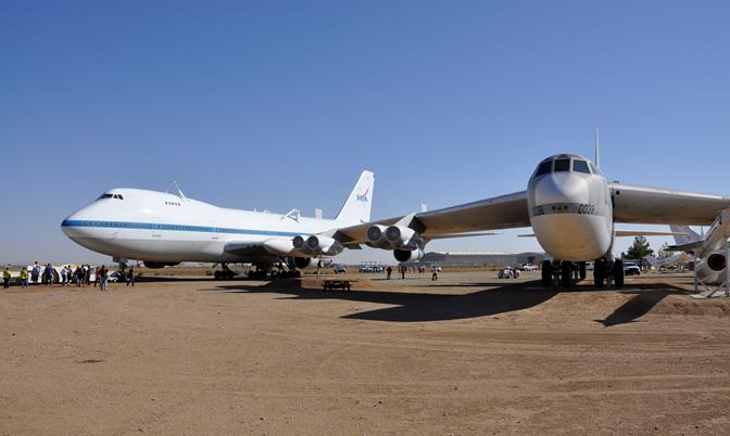 It was positioned adjacent to a retired Boeing B-52D bomber on the west side of the aircraft museum. Although NASA is retaining ownership of Shuttle Carrier Aircraft 911, it is on long-term loan to the City of Palmdale for public display.