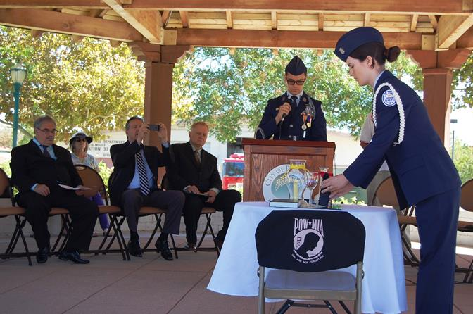 Highland High School Air Force JROTC also conducted the Table of Honor ceremony.